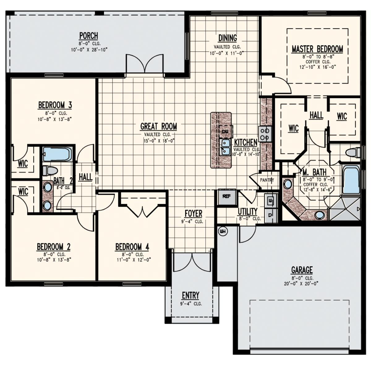 Bradford Model Floor Plan