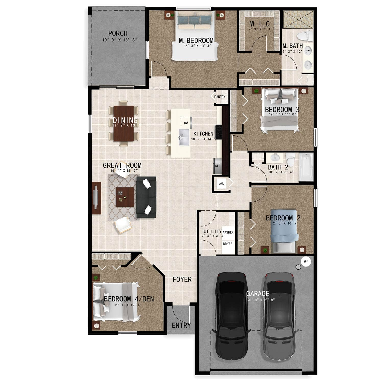 Hudson4 Model Updated Floorplan