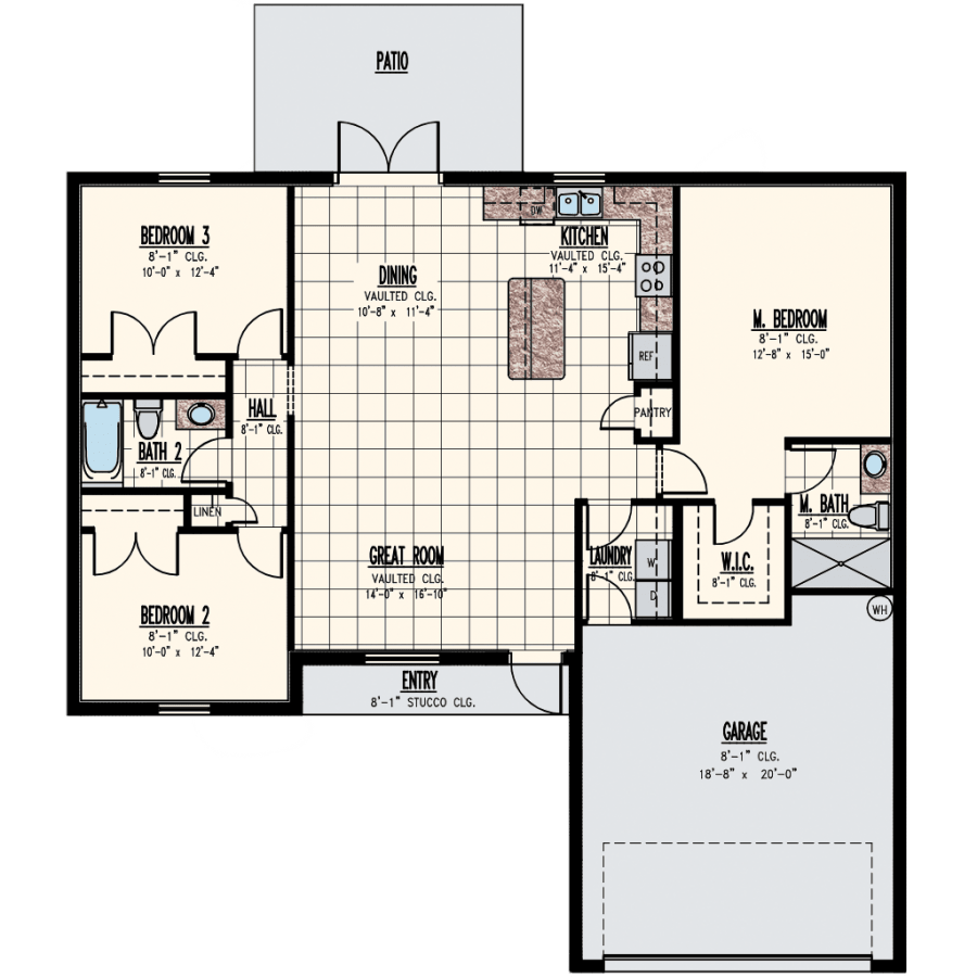 Synergy Homes Kingston Home Model Floor Plan