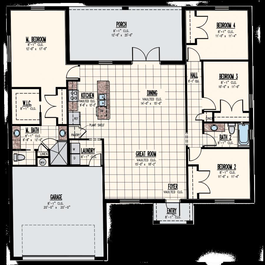 Lakewood Home Model Floor Plan